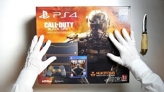 BLACK OPS 3 THEMED PS4 CONSOLE UNBOXING! Call of Duty Black Ops III Limited Edition Rare Gameplay