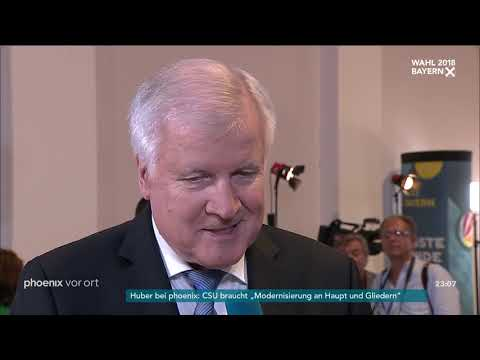 Landtagswahl in Bayern: Interview mit Horst Seehofer am ...