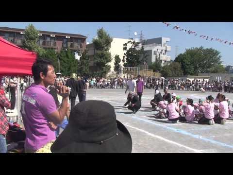白幡幼稚園大運動会 紅白リレー 2013年10月12日