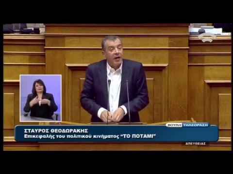 Ομιλία Στ. Θεοδωράκη στη συζήτηση για τον Προϋπολογισμό 2016