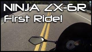7. First Ride: 2009 Kawasaki ZX-6R!