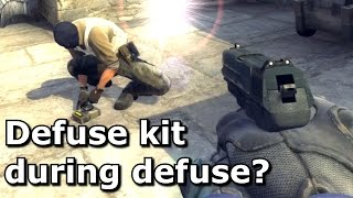 Picking up a defuse kit whilst defusing