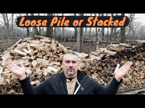 Storing Firewood in a Loose Pile or Stacked? Which Seasons Better?