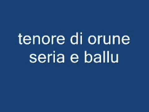 """TENORE DI ORUNE  Anzeleddu Soma canta una poesia di """"Badore Sassu"""""""