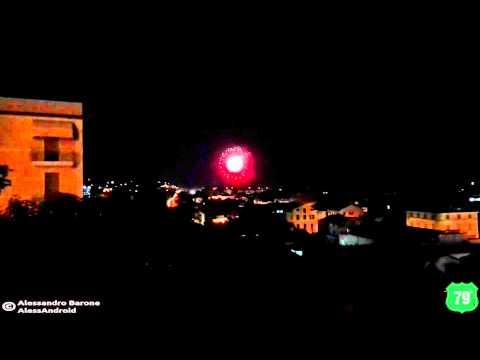 Fuochi d'artificio dalla terrazza