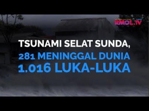 Tsunami Selat Sunda, 281 Meninggal Dunia 1.016 Luka-luka