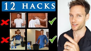 Video 12 CLOTHING HACKS FOR MEN |  Cool clothing tips and tricks MP3, 3GP, MP4, WEBM, AVI, FLV Mei 2019
