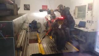 8. Hypermotard 1100  evo sp on the dyno at CJS
