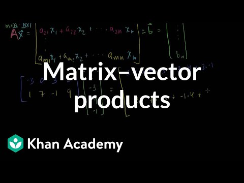 Matrix Vector Products