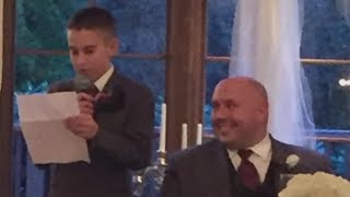 10-Year-Old Best Man Delivers Hilarious Speech at Dad's Wedding
