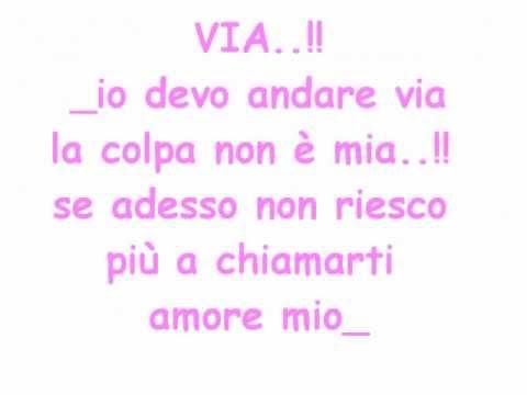 , title : 'Via - Gigi D'alessio con testo.wmv'