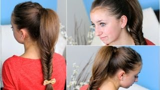 How to make a Fluffy Fishtail Braid Zendaya's Replay Hairsty