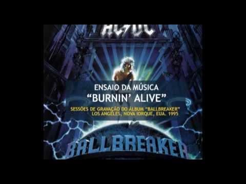 """AC/DC - Sessões do Gravação do """"Ballbreaker"""" - """"Burnin' Alive"""" (1995)"""