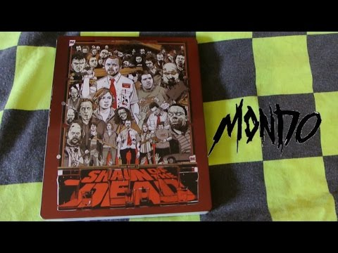 SHAUN OF THE DEAD Mondo Steelbook Blu-Ray Simon Pegg Edgar Wright Unboxing