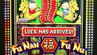 "http://www.thisweekingambling.com/fu-nan-fu-nu-slot-machine-ags/ - We take an up-close look at the Fu Nan Fu Nu Slot Machine from our friends at AGS.  This is one of the  first slot games delivered on their cabinet Orion game cabinet. Fu Nan Fu Nu literally translates as ""lucky boy lucky girl"", and this exciting slot machine that features Chinese art and sounds. The game pays from left to right and uses the PowerXStream pay evaluation in a 3×5 reel configuration in the base game for 243 ""Ways to Win."" Players trigger a scatter-initiated Free Spins bonus when they hit at least one Bonus symbol on reels 1, 2, and 3. Another slot bonus game  within Fu Nan Fu Nu features a Jackpot Pick sequence that awards one of the four jackpots available. You can read more about the Fu Nan Fu Nu Slot Machine here: http://www.playags.com/portfolio/fu-nan-fu-nu/"