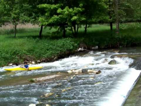 In canoa sull'Olona