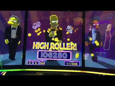 JACKPOT HANDPAY on THE SIMPSONS!  Lots of slot machine bonuses and BIG WINS!