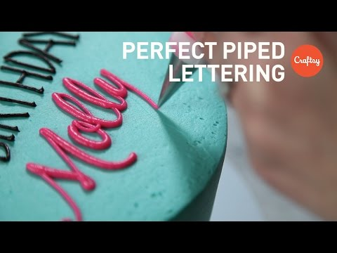 Piping Perfect Lettering on Cakes (Block & Script) | Buttercream Tutorial with Lauren Bozich