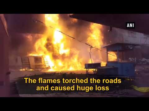 Massive fire breaks out in Kanpur due to short circuit