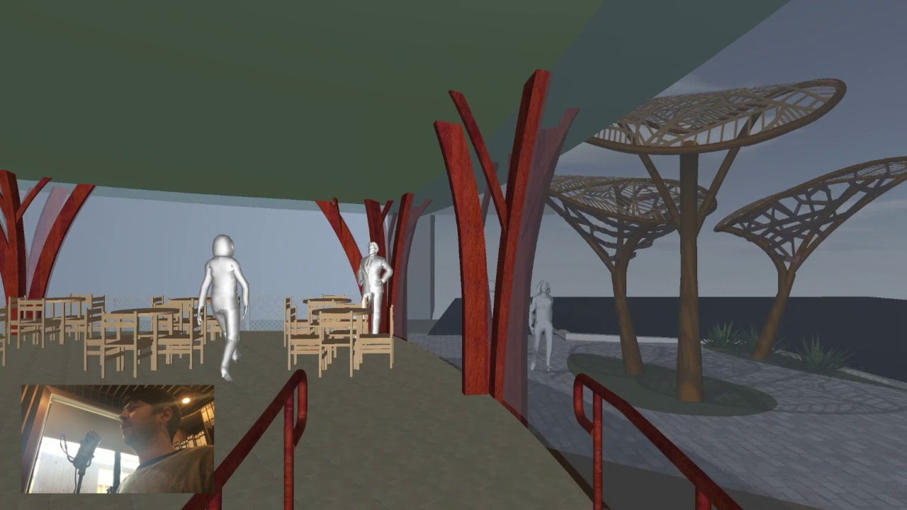 YouTube placeholder image shows still from the computer generated model of the completed development at All Saints Church.