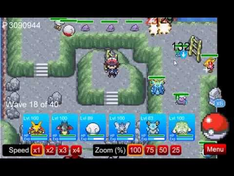 Pokemon Tower Defense - Tutorial - How to catch Mewtwo - PTD 0.9