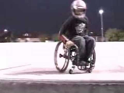 flip - Aaron doing stuff on his Wheel Chair including a Back Flip its like a skate video for the handicapped.