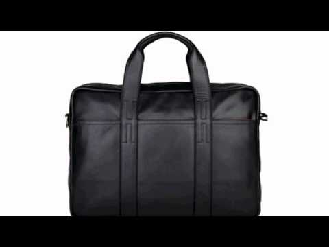 Milry Men's Genuine Leather Briefcase For Business Black P0074-1