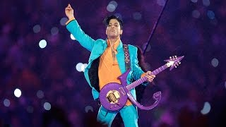 "Prince Performs ""Purple Rain"" During Downpour 