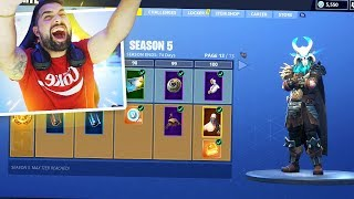 Video Fortnite SEASON 5 ALL BATTLE PASS REWARDS UNLOCKED (Tier 100) MP3, 3GP, MP4, WEBM, AVI, FLV Juli 2018