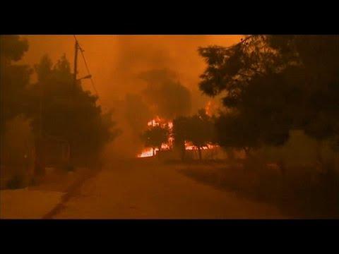 Griechenland: Schwere Brände nach extremer Trockenheit und starken Winden
