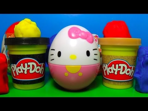 surprise - Surprise eggs Hello Kitty Disney Planes Kinder surprise Play Doh ANGRY BIRDS Cars The SMURFS LEGO! Unboxing 3 surprise eggs and Play-Doh surprise: Hello Kitt...
