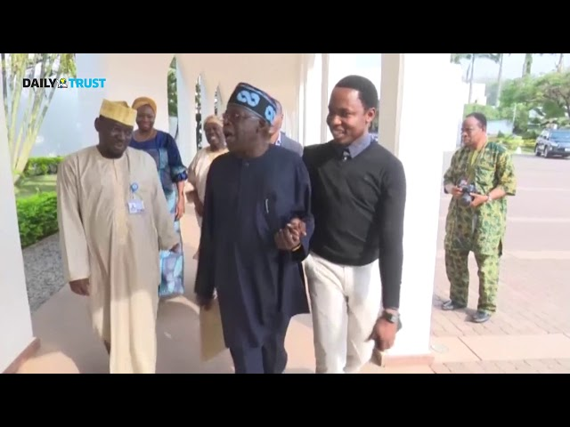 Buhari in closed-door meeting with Tinubu, Akande + Video