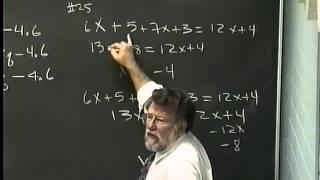 Lecture 06: Beginning Algebra (Math 70)