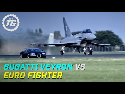 bugatti veyron vs euro fighter - top gear