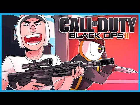 Black Ops 2 Funny Moments! - Mission: Defeat DaithiDeNogla! (Gun Game Rage and Sticks and Stones!)