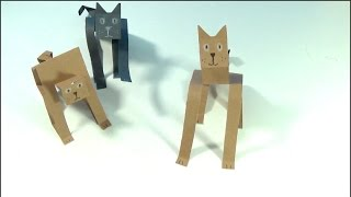 "UnboxingToyCollector Presents: How to Make Cats out of Construction Paper. This simple multiple step process will be fun for the whole family!1. fold an 8 1/2 x 11"" piece of colored construction paper in half and then in half again (resulting in 4 panels)2. cut off a strip at the end. Save the other pieces for other cats!3. Fold the strip of paper in half and in half again (resulting in 4 panels)4. cut into the two panels on the outer edges (these are the legs)5. fold up the thicker rectangle (front of back) this will be the head6. take the rectangle that is now in the back and fold in 2 more times -- this will be the tail!7. but a triangle out of the strip where you created the head (this will result in two ears)8. using a crayon or pencil crayon draw the eyes, mouth and claws9. fold triangles into the tail to make it appear like its moving.10. If needed add a bit of tape under the paws to help him or her stand!Have Fun!UnboxingToyCollector produces family friendly content! Regularly featuring, Play Doh Ice Cream Shop, Play Doh Supermarket story fruits and vegetables, Pizzas and Hamburger sets! We also feature Frozen, Elsa, Anna, Olaf, Timmy Time, Paw Patrol, Peppa Pig and Ben & Holly toys!•••••••• Watch UnboxingToyCollector on YouTube: https://www.youtube.com/channel/UCHjB...Unboxing Play Doh Sundae Station Ice Cream Sweet Treats Playset Sundae Swirls! https://www.youtube.com/watch?v=5xgih...Unboxing PlayDoh Ice Cream Sundae Treats Dessert Play Doh Play-set https://www.youtube.com/watch?v=kVGKe...Unboxing Paw Patrol Rocky Saves Bettina the Cow Rescue Set https://www.youtube.com/watch?v=P3ygx...Unboxing Paw Patrol Marshall & Baby Whale Rescue Set https://www.youtube.com/watch?v=vvWbt...Unboxing NEW Paw Patrol Air Rescue Action Figures, Chase, Marshall, Sky, Rocky, Rubble and Zumahttps://www.youtube.com/edit?o=U&vide...https://www.youtube.com/watch?v=iCWtN...Unboxing PlayDoh Town Police Boy New Play-Doh Town Series Unboxing Play-Doh Town Pizza Delivery NEW Play Doh Town Playset https://www.youtube.com/watch?v=FBWfk...•••••••• Watch more Unboxing Play-Doh!https://www.youtube.com/playlist?list...Play Doh Twirl 'n top Pizza Shop Pizzeria Playset - Make Pizzas with Playdough https://www.youtube.com/watch?v=-se69...https://www.youtube.com/watch?v=ayQJF...Unboxing Peppa Pig Mega Dough Set Play Doh Peppa Toys Shapes Colors Cookies Fruits Vegetable"