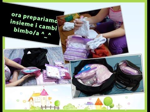 prepariamo la valigia ospedale bimbo e i singoli cambi neonato