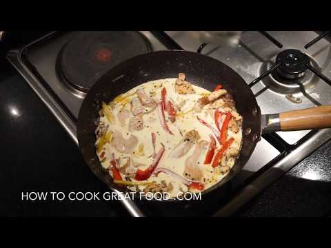 How To Make Creamy Chicken Pasta - Easy Creamy Pasta Sauce - Chicken Penne Cream