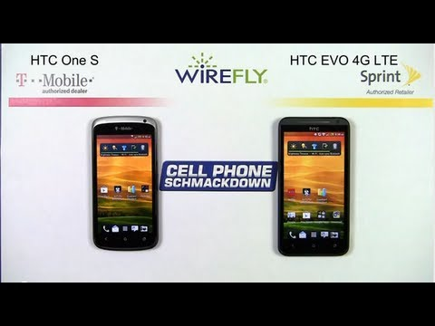 T-Mobile HTC One S vs. HTC EVO 4G LTE for Sprint Smartphone Comparison Review