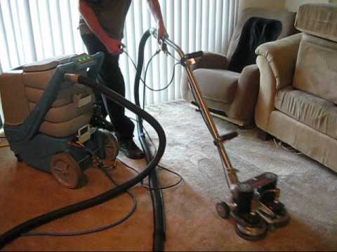 EDIC Commercial carpet extractor and ROTO-VAC POWER SCRUBBER (видео)