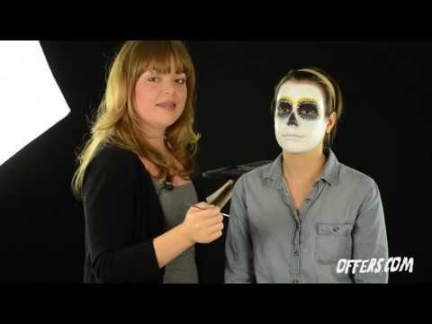 Sugar Skull Makeup Tutorial For Halloween and Día de los Muertos