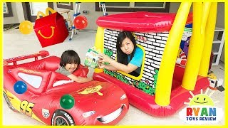 McDonald's Drive Thru Mommy on Disney Cars Lightning McQueen Power Wheel Ride On Car