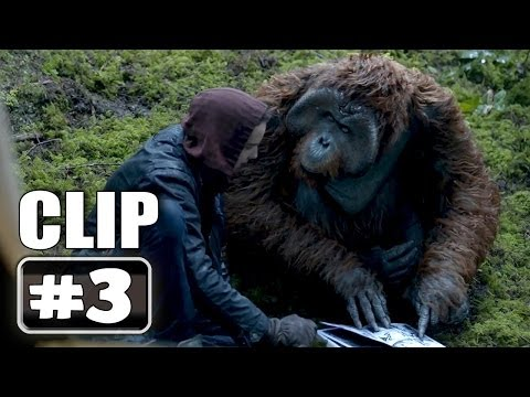 """Learning to Read"" DAWN OF THE PLANET OF THE APES Movie Clip # 3"