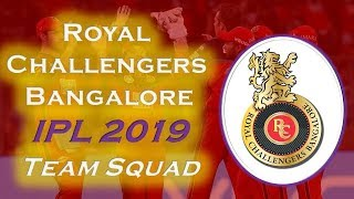 IPL 2019 Royal Challengers Bangalore Team Squad | RCB Probable Squad For IPL 2019