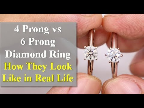 4 Prong vs 6 Prong Diamond Ring - What Are the Differences?