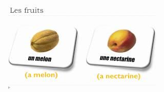 Vocabulaire Anglais - Unité 3 - Les Fruits