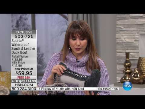 HSN | Boot Clearance featuring Sporto 01.14.2017 - 02 PM
