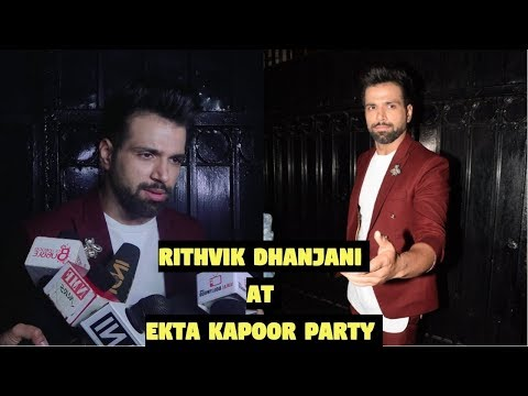 Rithvik Dhanjani at Ekta Kapoor Party After Screening Web Series The Test Case