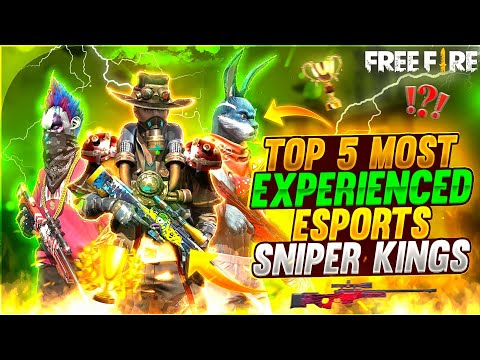 TOP 5 MOST EXPERIENCED ESPORTS SNIPER KINGS 😱🔥 Mysterious Facts - Garena Free Fire