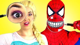 Video Человек паук и замороженные Эльза Bubble Gum вызов Супермен смешной в реальной жизни Человек паук пр MP3, 3GP, MP4, WEBM, AVI, FLV Agustus 2018